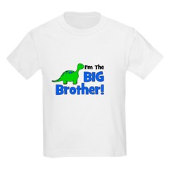 I'm The Big Brother! Dinosaur Kids T-Shirt
