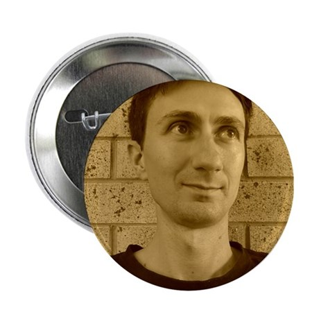 """Andy Warstar Sepia 2.25"""" Button"""