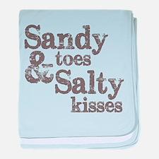 Sandy Toes Salty Kisses baby blanket