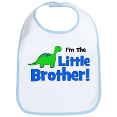 I'm The Little Brother! Dinos Bib