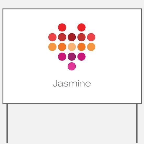 I Heart Jasmine Yard Sign