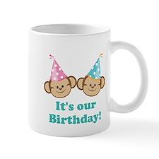 Twins Birthday Monkeys Mug