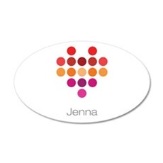 I Heart Jenna Wall Decal
