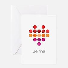 I Heart Jenna Greeting Card