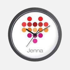 I Heart Jenna Wall Clock