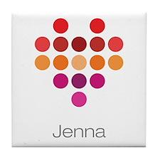 I Heart Jenna Tile Coaster