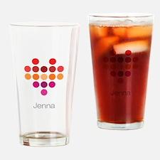 I Heart Jenna Drinking Glass