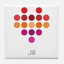 I Heart Jill Tile Coaster