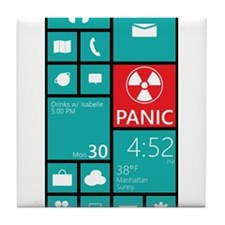 Panic Tile Coaster