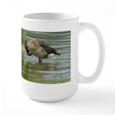 Goose Preening Large Mug