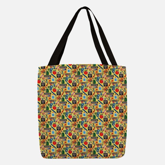 back to school Polyester Tote Bag