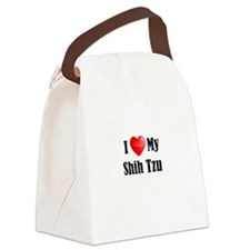 I Love My Shih Tzu Canvas Lunch Bag