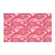 Pink Flamingo 3'x5' Area Rug