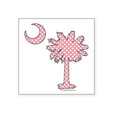 Pink polka dot palmetto Sticker