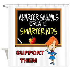 CHARTER SCHOOLS Shower Curtain