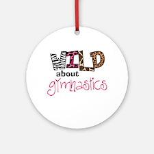 Wild about Gymnastics Ornament (Round)