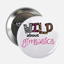 "Wild about Gymnastics 2.25"" Button (10 pack)"