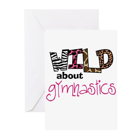 Wild about Gymnastics Greeting Cards (Pk of 10)