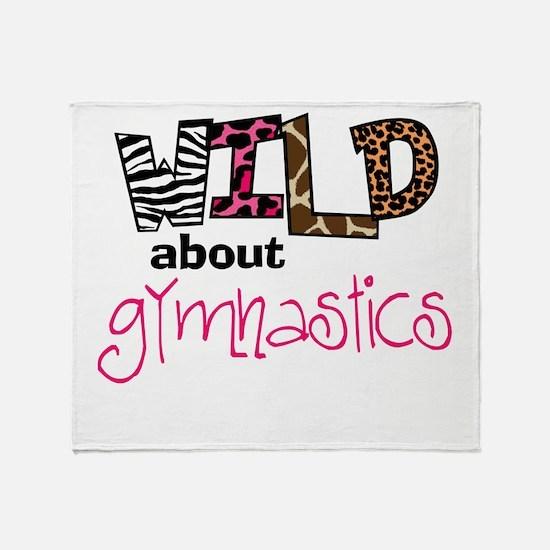 Wild about Gymnastics Throw Blanket