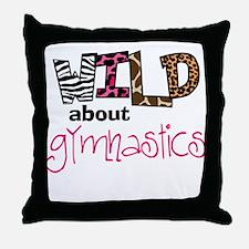 Wild about Gymnastics Throw Pillow