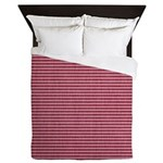 Red and Pink Stripes Queen Duvet