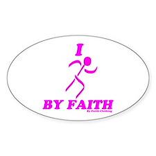 I Run By Faith (Womens 3rd Edition) Sticker