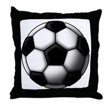 soccer ball 2 Throw Pillow