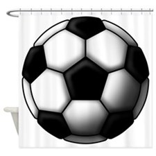 soccer ball 2 Shower Curtain