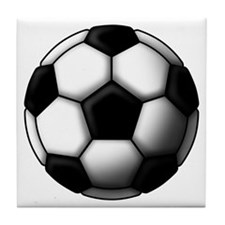 soccer ball 2 Tile Coaster