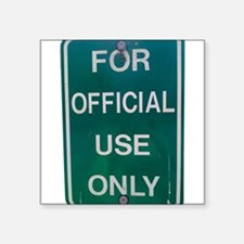 For Official Use Only Sticker