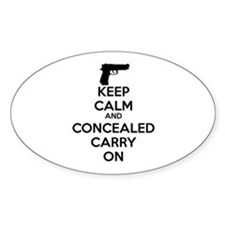 keep calm and concealed carry on Decal