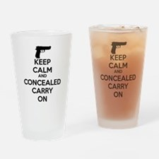 keep calm and concealed carry on Drinking Glass