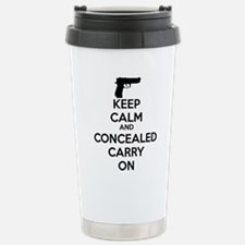 keep calm and concealed carry on Travel Mug
