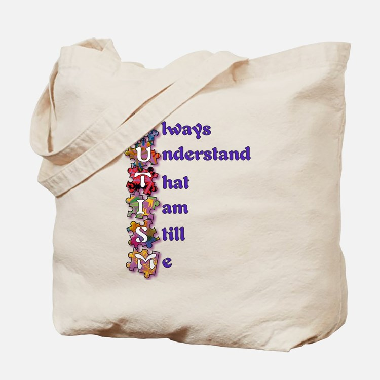 Autism Acrostic Poem Tote Bag
