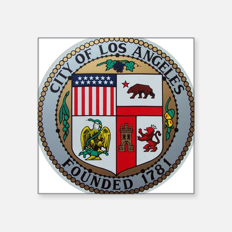City of Los Angeles Rectangle Sticker