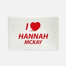 I Love Hannah - Dexter Rectangle Magnet