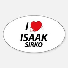 I Love Isaak - Dexter Decal