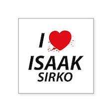 "I Love Isaak - Dexter Square Sticker 3"" x 3"""