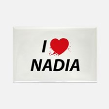 I Love Nadia - Dexter Rectangle Magnet