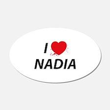 I Love Nadia - Dexter 22x14 Oval Wall Peel