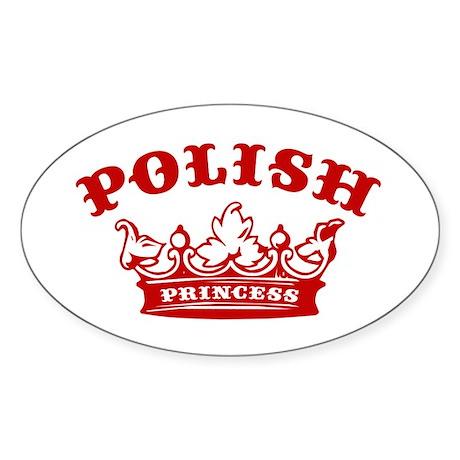 Polish Princess Oval Sticker
