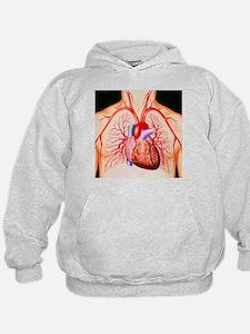 Hoodie - Human heart, artwork