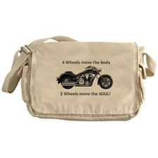 Biker Quote Messenger Bag
