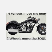Biker Quote Rectangle Magnet