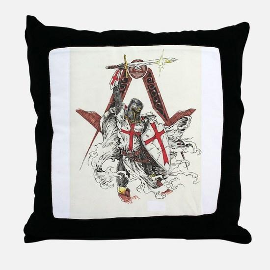 Knights Templar Throw Pillow