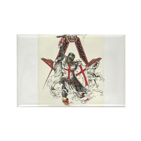 Knights Templar Rectangle Magnet