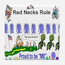 Red Necks Rule Tile Coaster