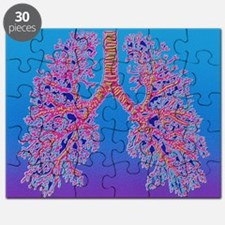 Puzzle - Computer art of human lung trachea