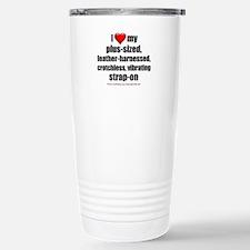 """Love My Vibrating Strap-On"" Travel Mug"