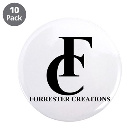 """Forrester Creations Logo 01.png 3.5"""" Button (10 pa"""
